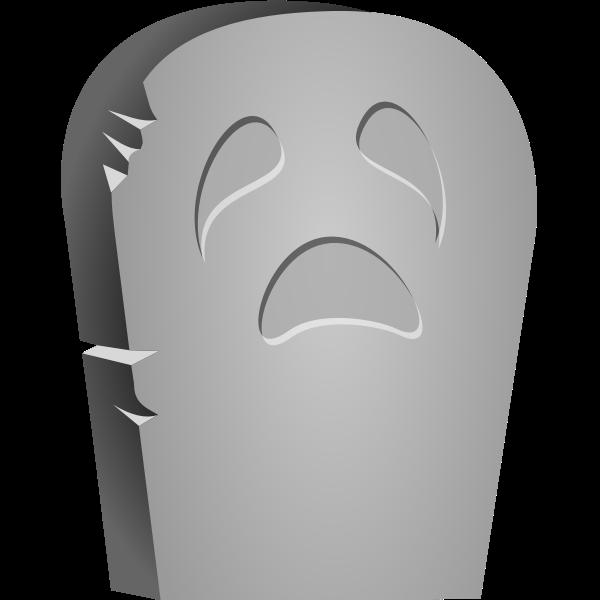 Vector clip art of Halloween tombstone