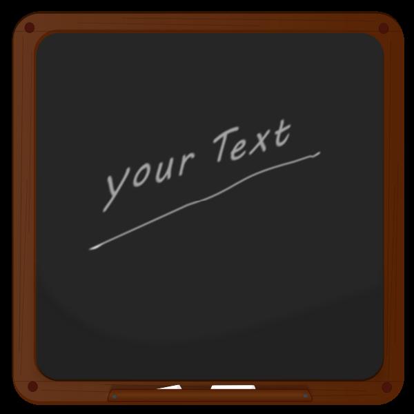 Vector drawing of blackboard