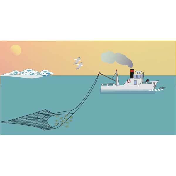 Download Small Fishing Boat Free Svg