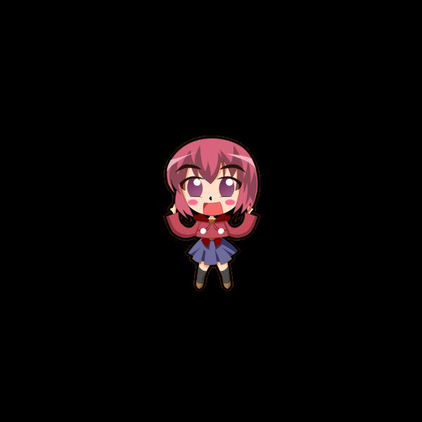 Cute girl icon vector graphics