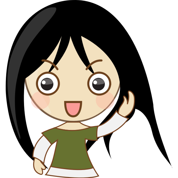 Cute emo girl portrait vector graphics