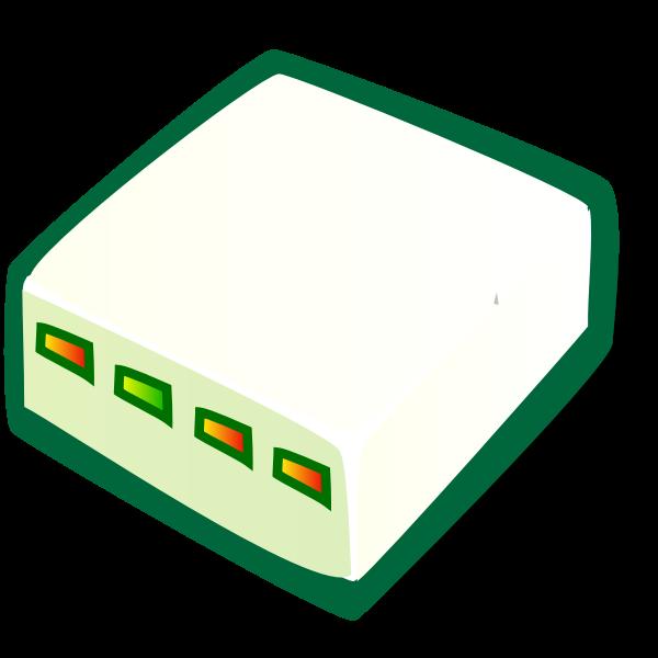 Vector clip art of internet modem with color lights | Free SVG
