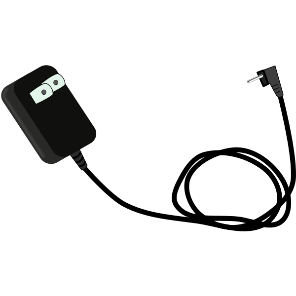 Phone charger vector clip art