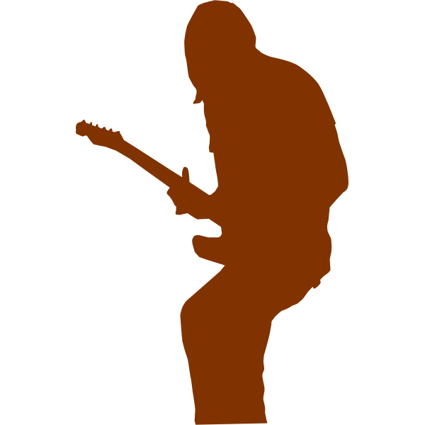 Vector image of musician