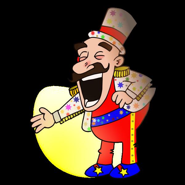 Circus chef vector drawing