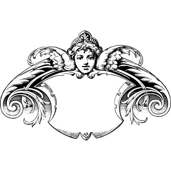 Cherub frame vector illustration