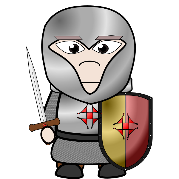 Cartoon knight image