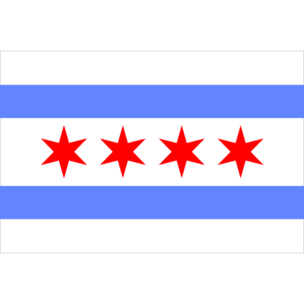 chicago flag border