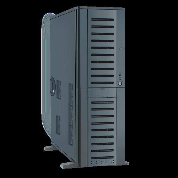 PC computer system unit vector illustratioon