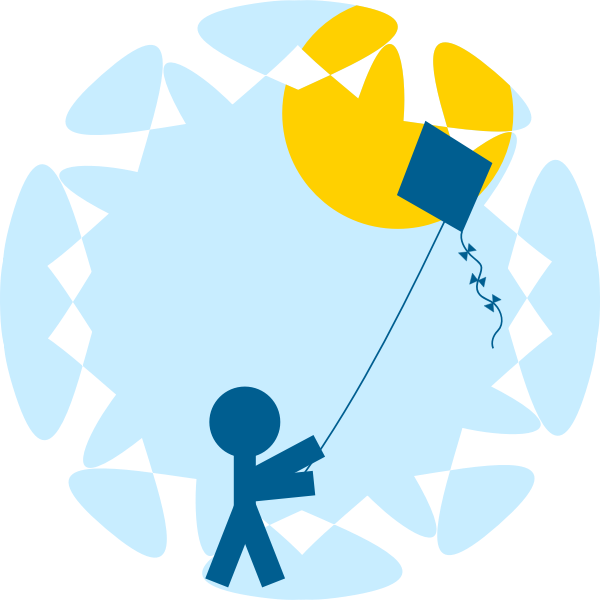 Child with a kite vector image