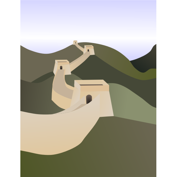 Chinese wall vector graphics