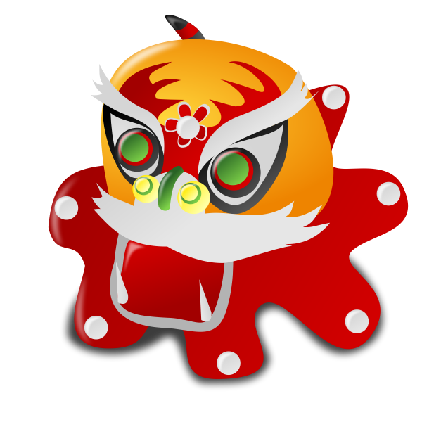 Chinese New Year mask vector image