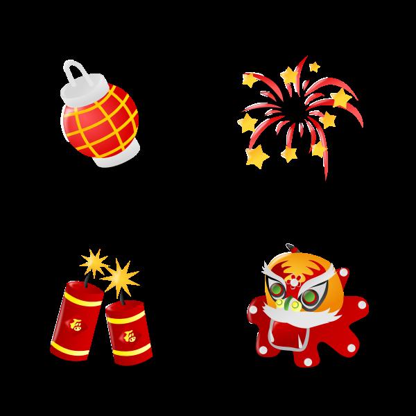 Chinese new years icon set