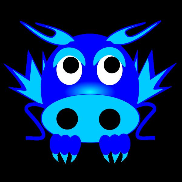 Vector image of dragon
