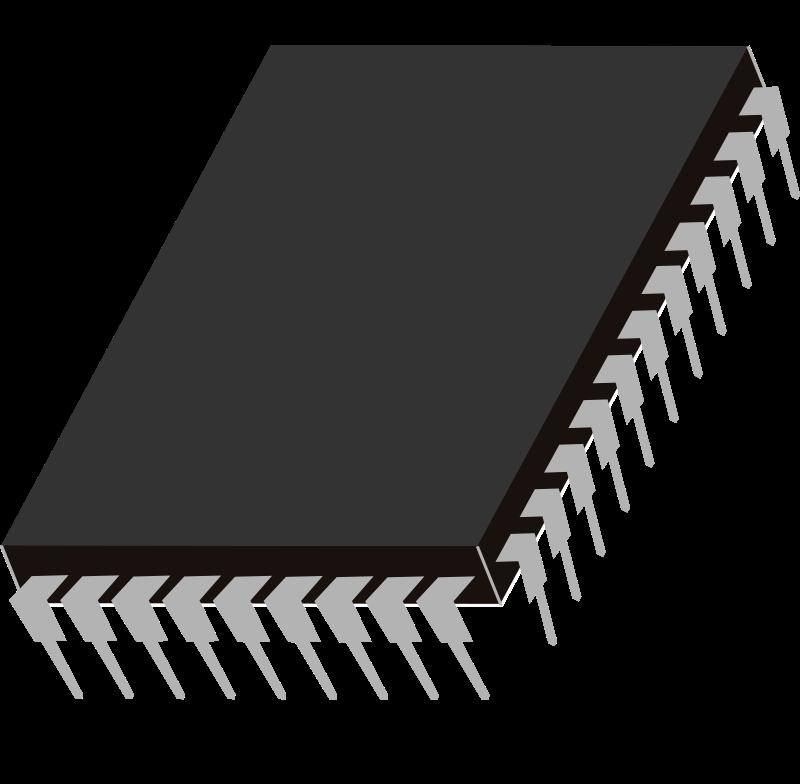 Bios chip vector clip art