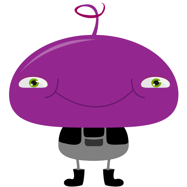Alien baby with curly hair vector image