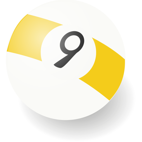 Vector illustration of billiard ball number 9