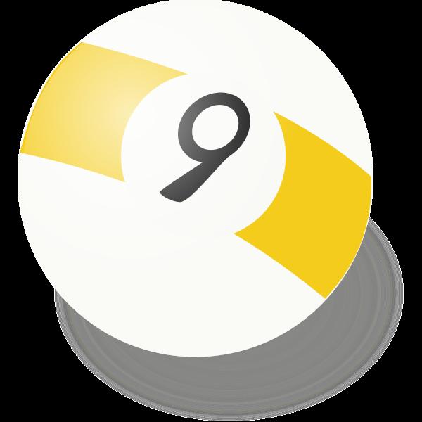 Vector illustration of billiard ball number 9