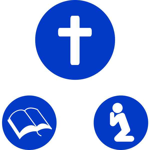 Christian icons for prayroom vector images
