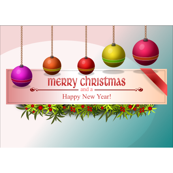 Color image of Merry Christmas card design