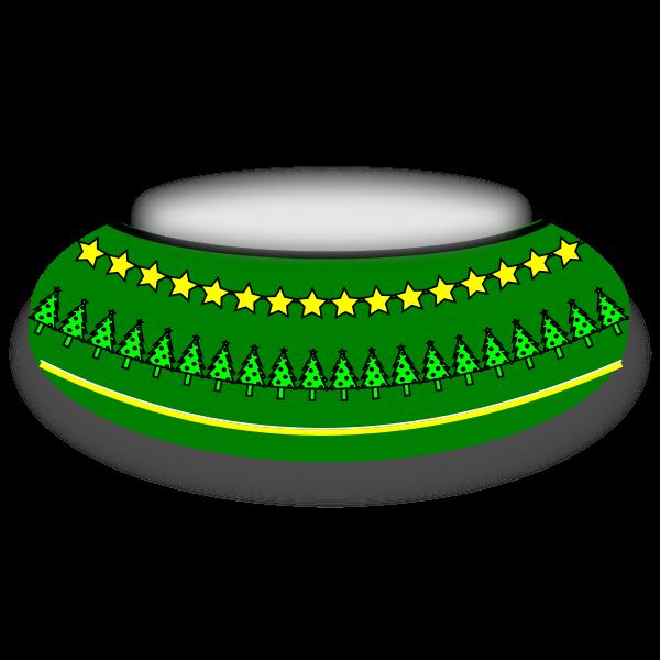 Christmas Bowl Vector Image