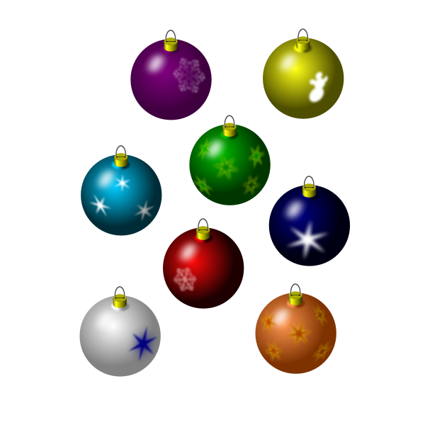 Selection of Christmas ornaments vector image