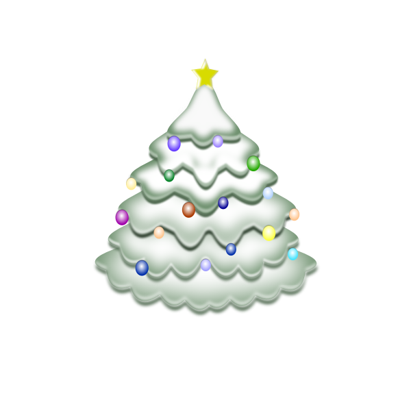 Christmas tree vector clipart