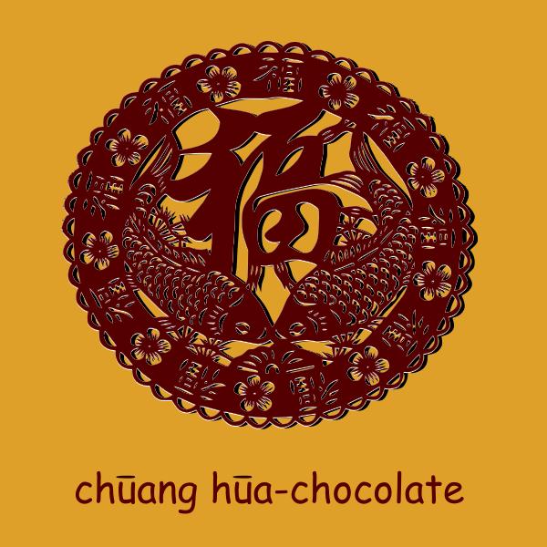 Vector drawing of chung hua chocolate sign
