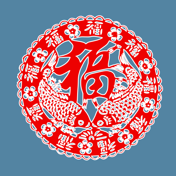 Chinese New Year red poster vector illustration