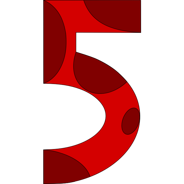 Number 5 shape