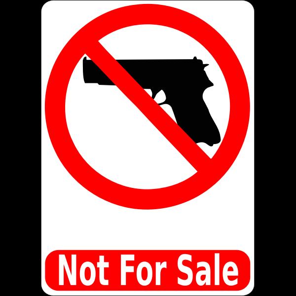 Guns not for sale