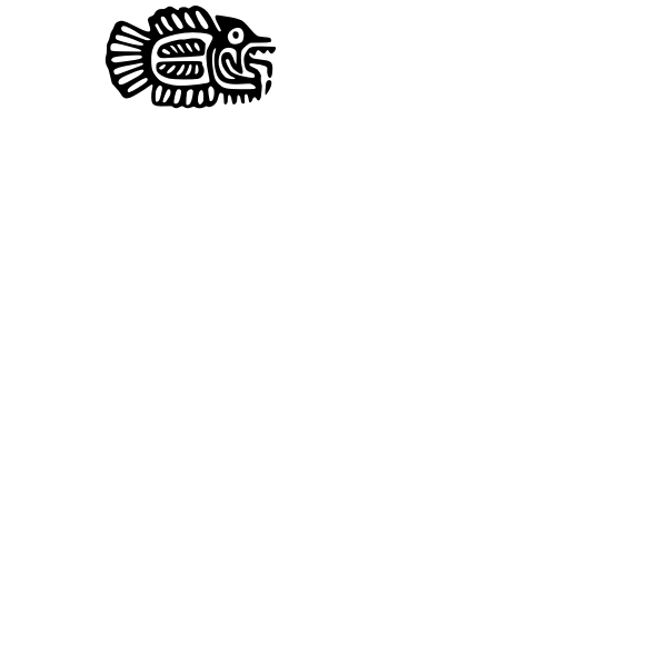 Ancient Mexico motif vector drawing