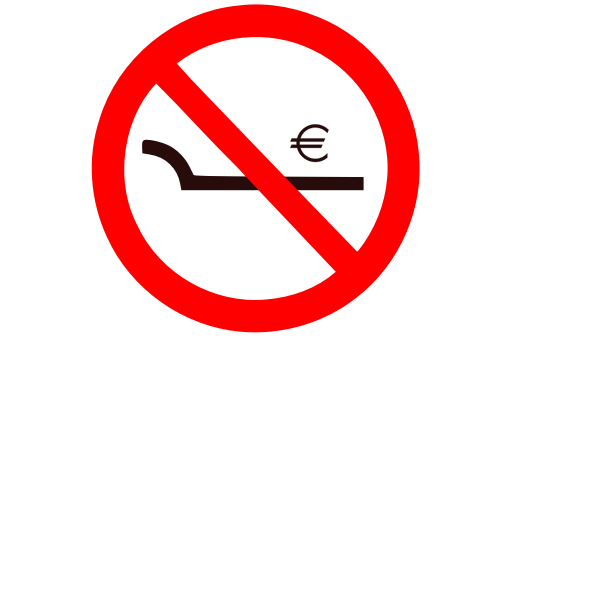No work exploitation sign vector illustration