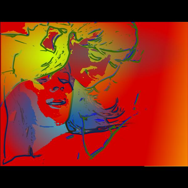 Abstract portrait illustration