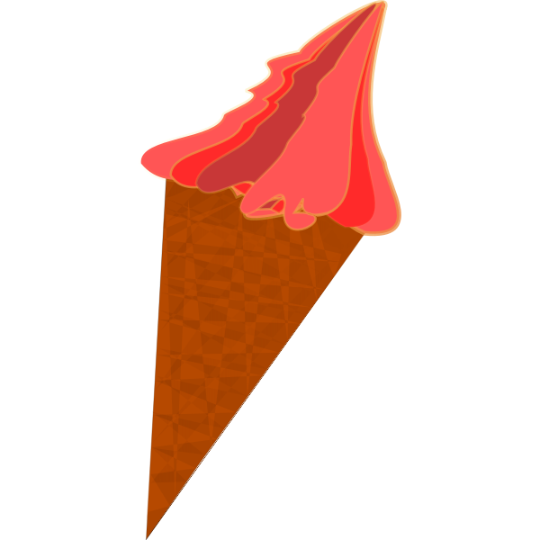 Color vector clip art of ice cream in a cone