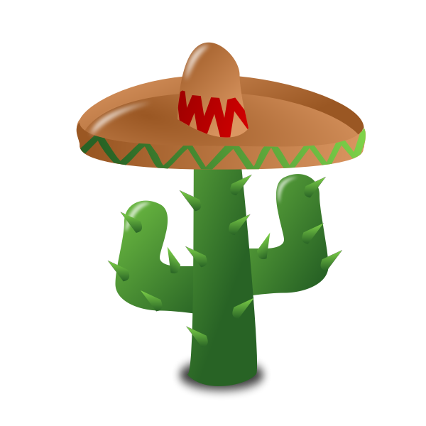 Vector image of cactus