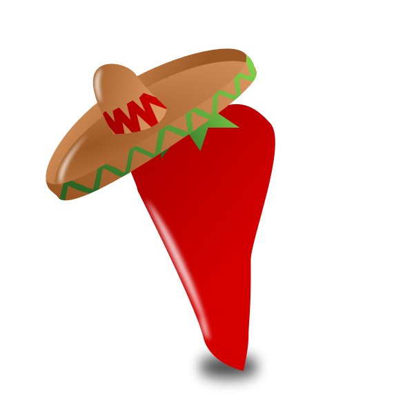 Vector illustration of Mexican chili