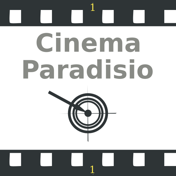 Vector clip art of cinema paradiso on film roll