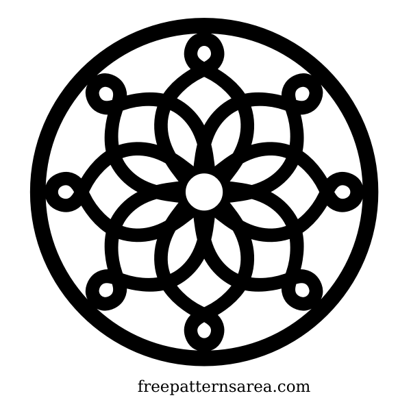 Circle geometric trivet ornament
