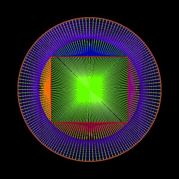 Vector illustration of spiral drawing line art