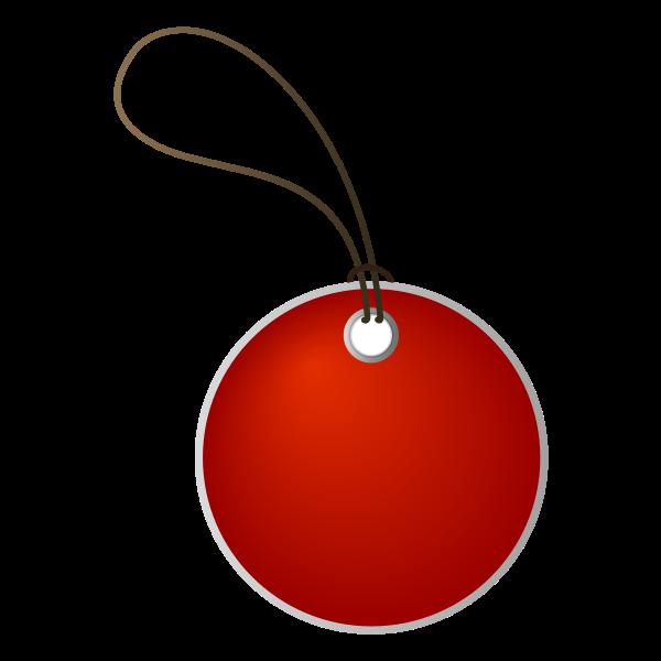 Circle tag vector image