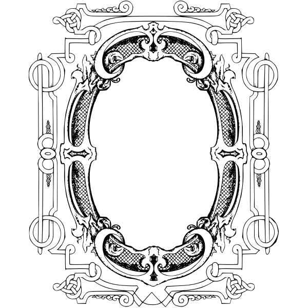 Egg shaped frame vector illustration