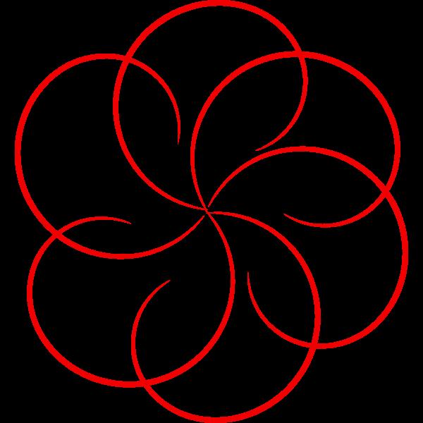 Circular border vector image