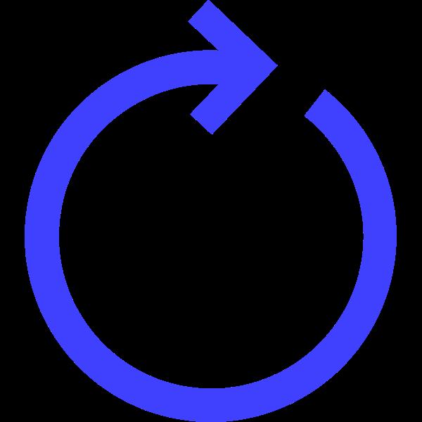circular arrow blue