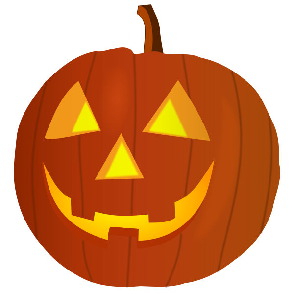 Satisfied orange pumpkin vector graphics