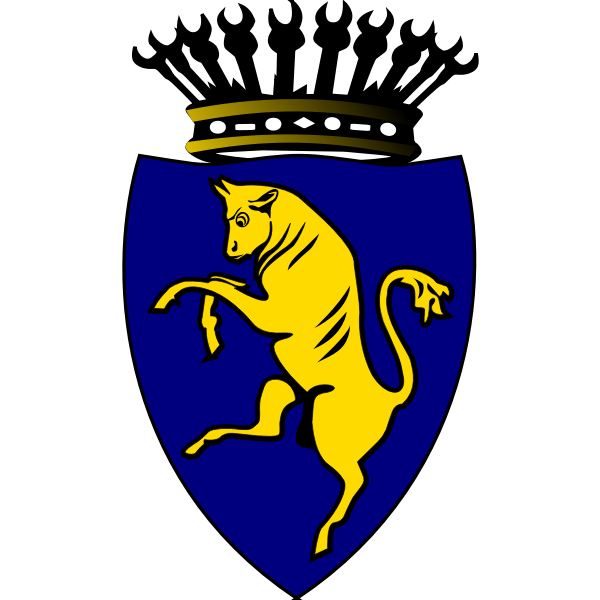 City of Turin coat of arms vector graphics