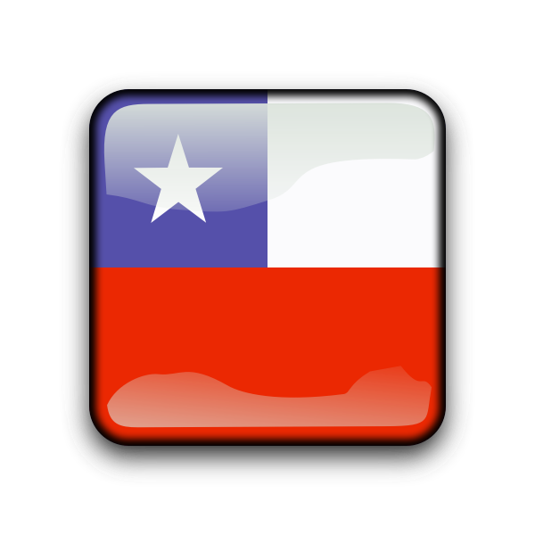Chile vector flag button