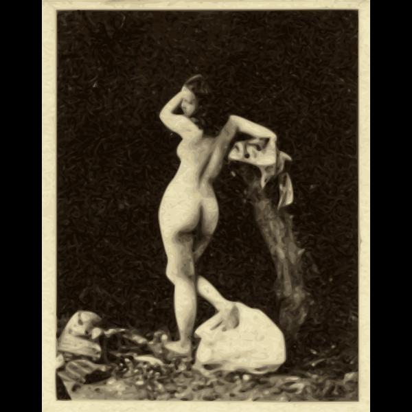 classicalart woman rear