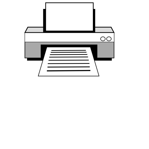 Laser printer vector image