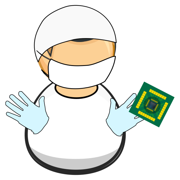 Clean lab worker
